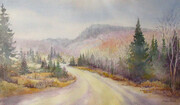 Late Fall in Northern Ontario - Watercolour - 13x21